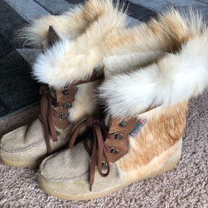 Pajar Fox Fur Snow Boots